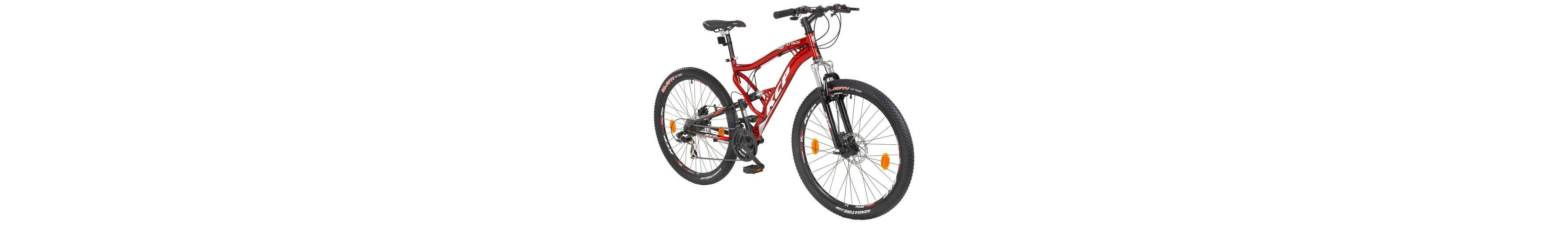 Mountainbike »ATTACK rot«, 27,5 Zoll, 21 Gang, Scheibenbremsen