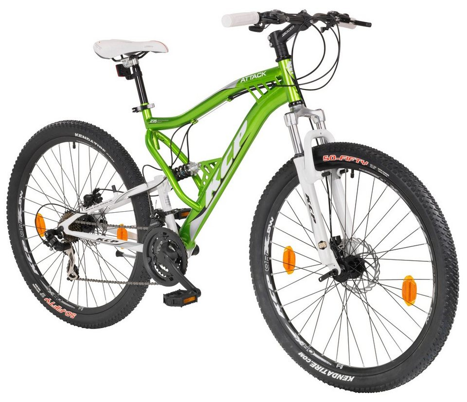 Mountainbike »ATTACK grün«, 27,5 Zoll, 21 Gang, Scheibenbremsen in grün