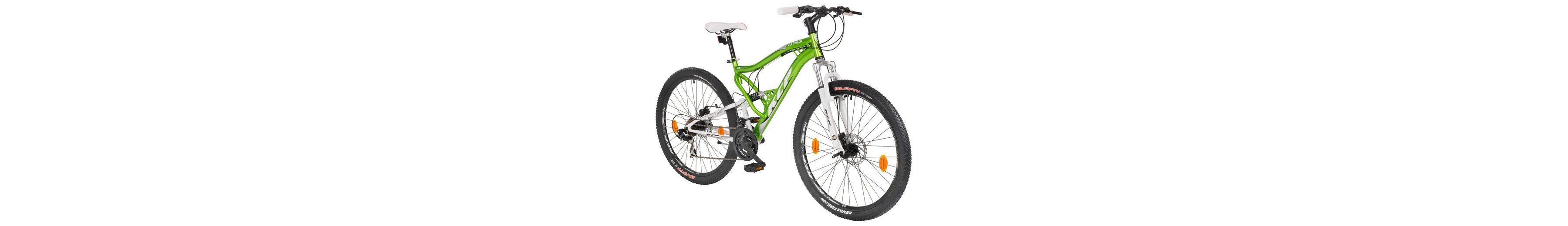 Mountainbike »ATTACK grün«, 27,5 Zoll, 21 Gang, Scheibenbremsen