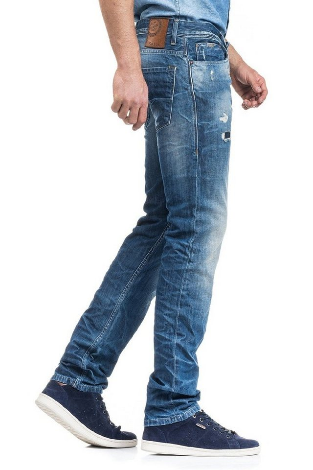 salsa jeans Jean »Tapered/ Lima« in Blue