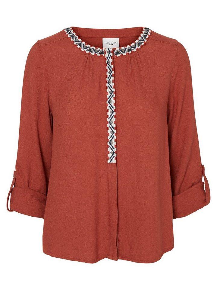 Vero Moda Langärmelige Bluse in Henna