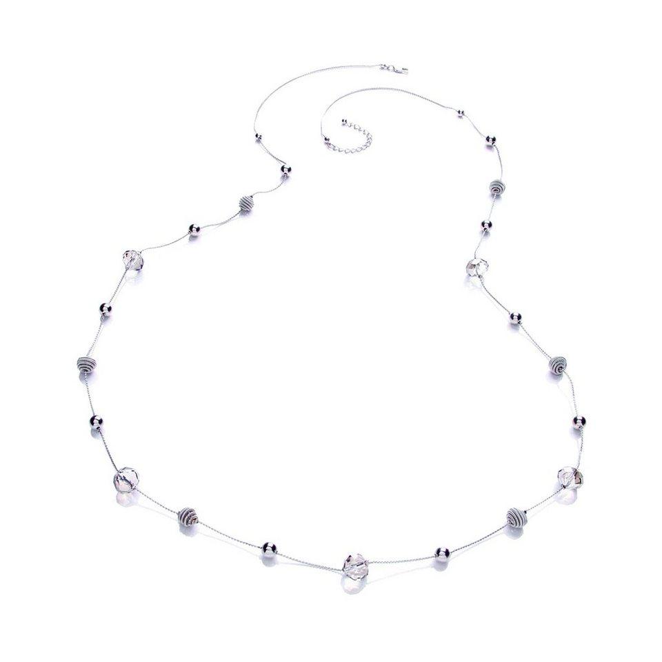 Buckley London Collier »rhodiumfarben mit verschiedenen Beads« in weiß