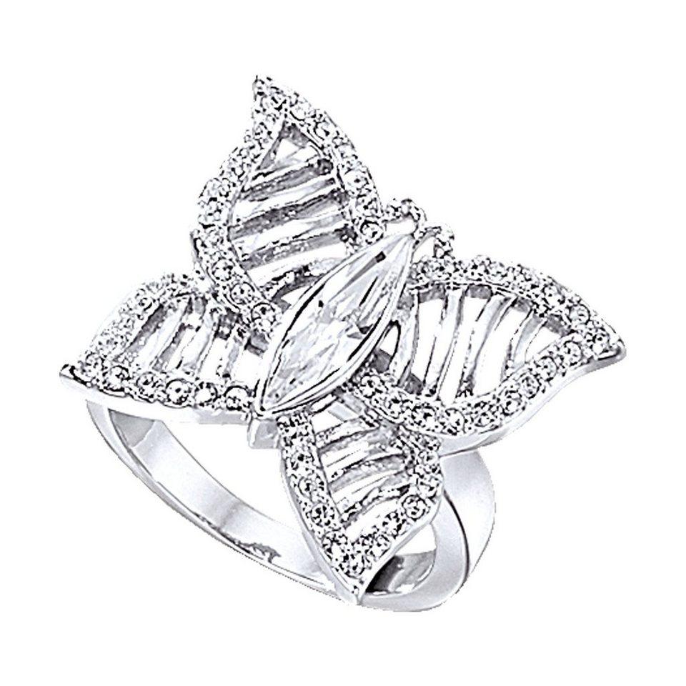 Jacques Lemans Ring »Modeschmuck« in weiß