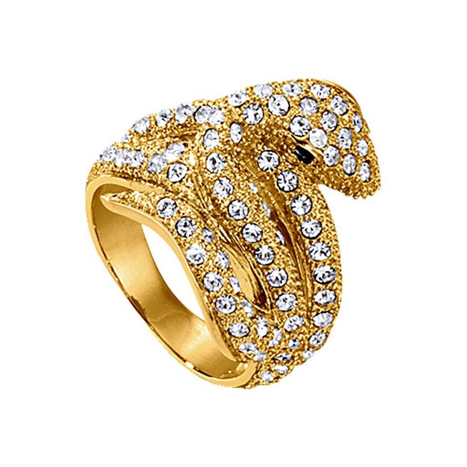 Jacques Lemans Ring »Modeschmuck« in gelb