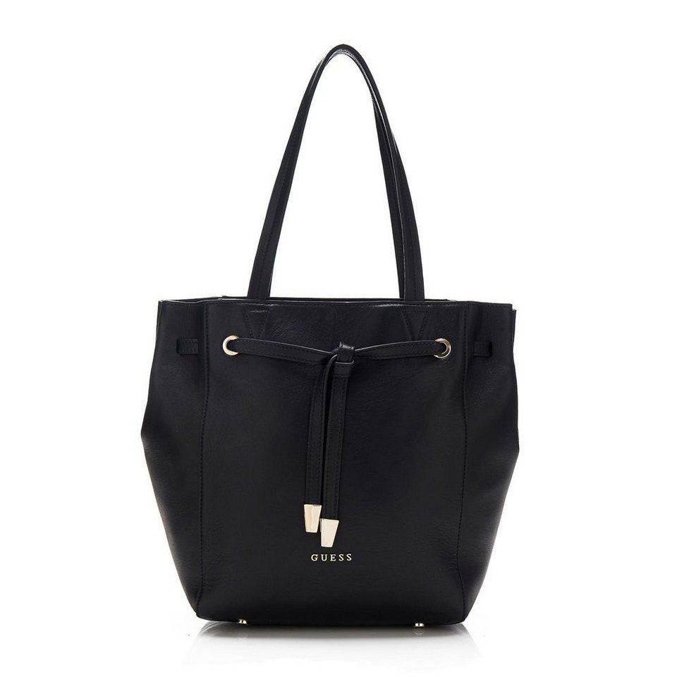 Guess Tasche Alessandra aus Leder in Schwarz
