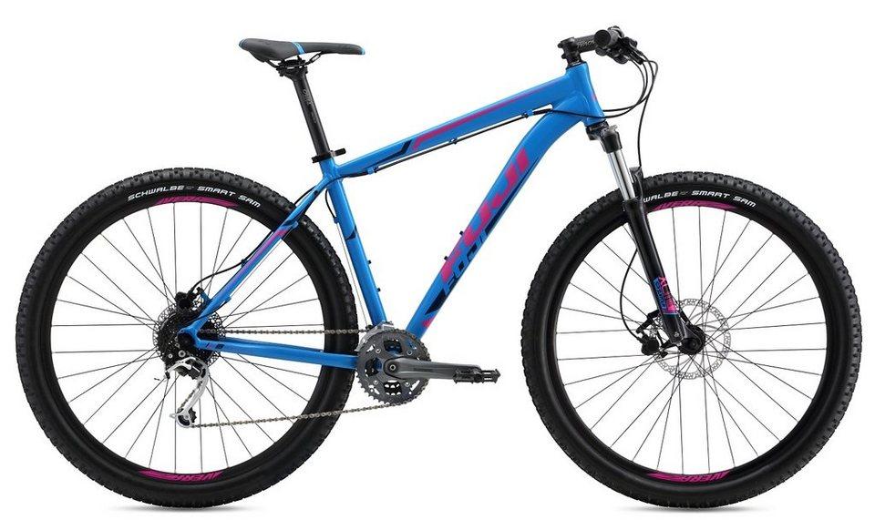 Fuji Herren Hardtail MTB, 29 Zoll, 27 Gg Shimano Deore XT Schalt., hydr. Scheibenbr, »Nevada 1.3« in blau-pink