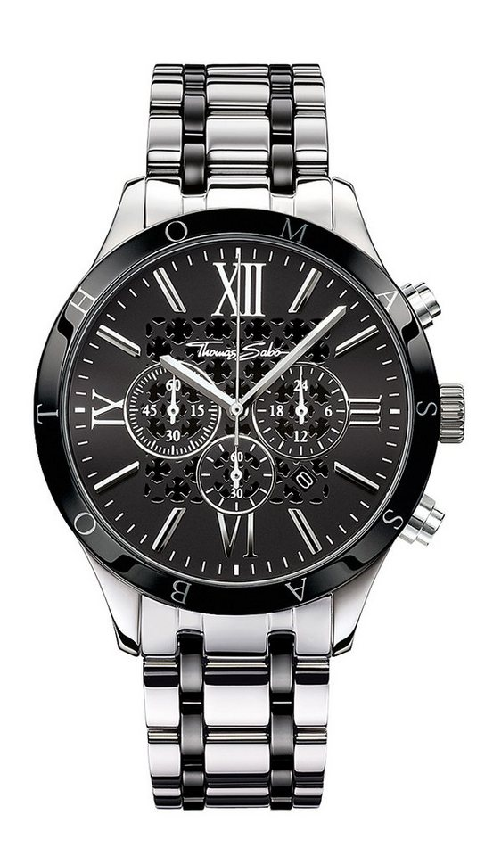 Thomas Sabo Chronograph »REBEL URBAN, WA0139« in silberfarben-schwarz