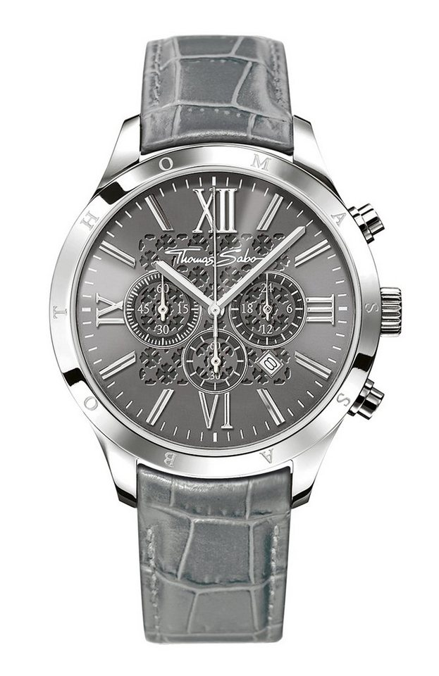 Thomas Sabo Chronograph »REBEL URBAN, WA0226« in grau