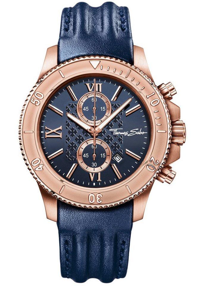Thomas Sabo Chronograph »REBEL RACE, WA0214« in blau