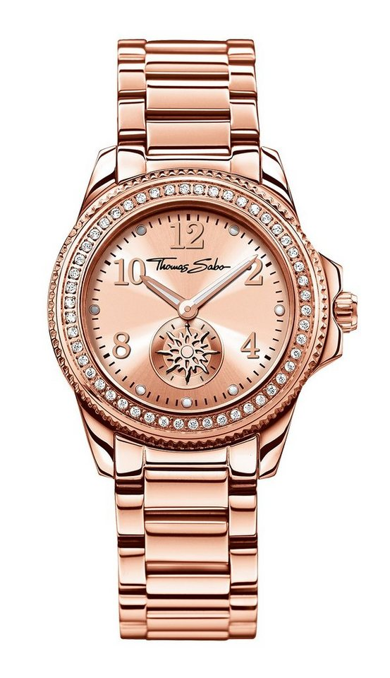 Thomas Sabo Quarzuhr »GLAM CHIC, WA0217« in roségoldfarben
