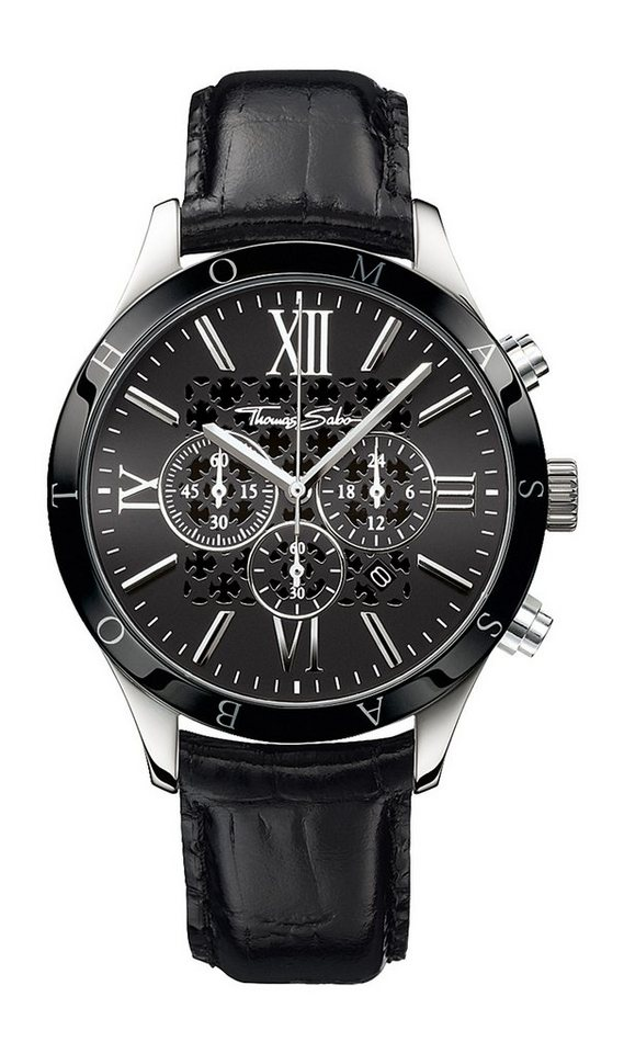 Thomas Sabo Chronograph »REBEL URBAN, WA0109« in schwarz