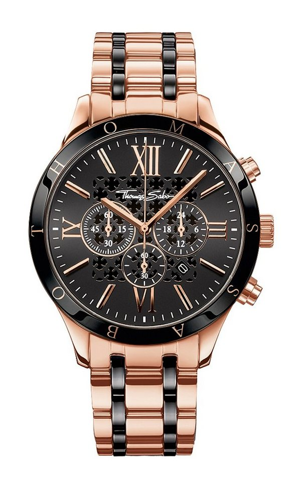 Thomas Sabo Chronograph »REBEL URBAN, WA0187« in roségoldfarben