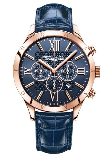 Herren THOMAS SABO Chronograph REBEL URBAN WA0211-270-209 blau | 04051245156270