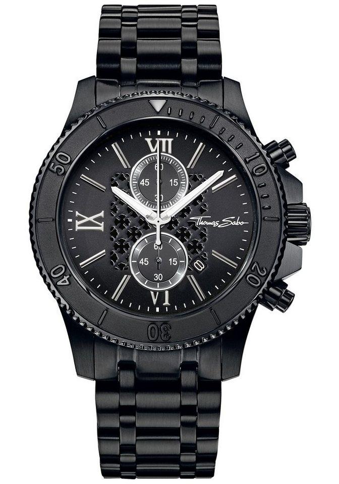 Thomas Sabo Chronograph »REBEL RACE, WA0198« in schwarz