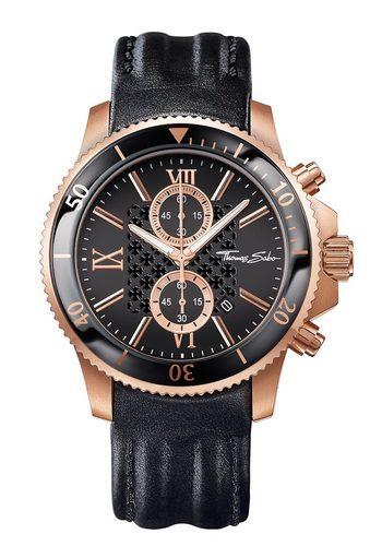 Herren THOMAS SABO Chronograph REBEL RACE WA0189-213-203 schwarz | 04051245116816