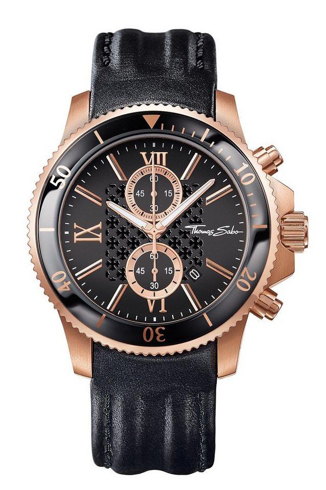 Thomas Sabo Chronograph »REBEL RACE, WA0189« in schwarz