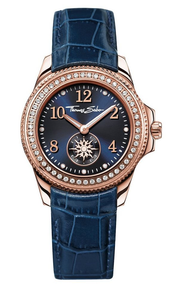 Thomas Sabo Quarzuhr »GLAM CHIC, WA0216« in blau