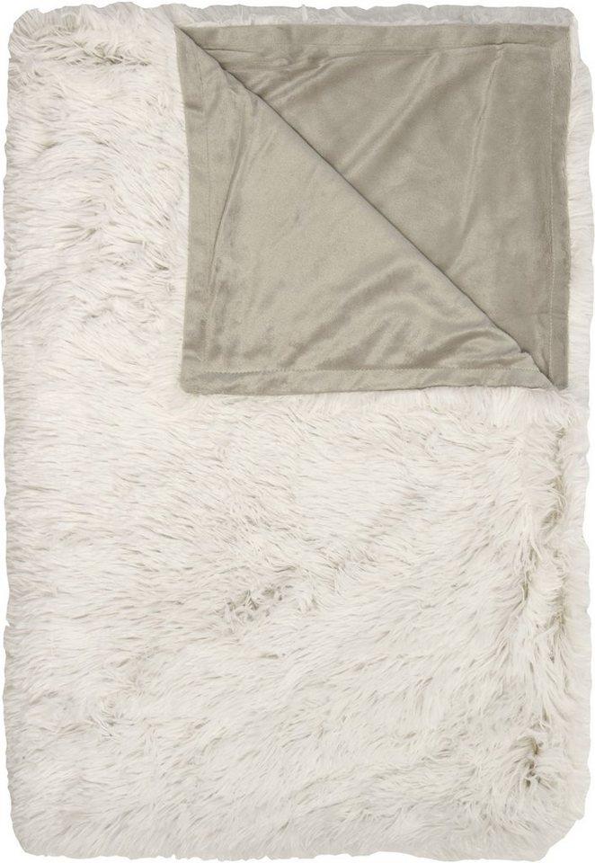 Wohndecke, Hagemann, »New York«, in Felloptik in beige-weiß