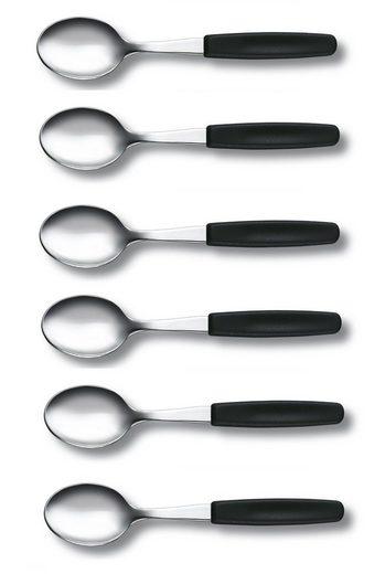 Victorinox Tafelmesser »6 Stück Victorinox Kaffeelöffel schwarz« (6 Stück)