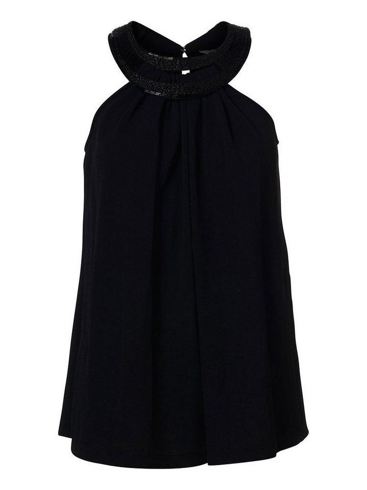 Vero Moda Perlenverziertes Oberteil ohne Ärmel in Black