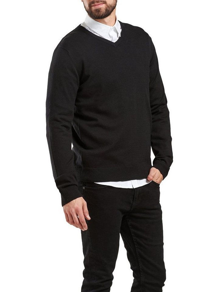 ONLY & SONS Einfarbiger Strickpullover in Black