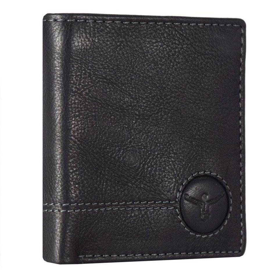 Chiemsee Wetland Geldbörse Leder 9 cm in schwarz