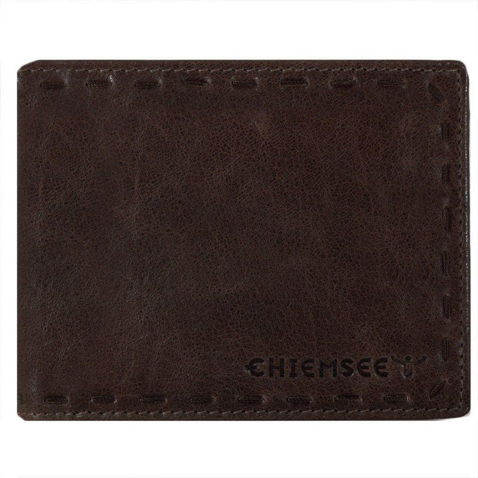 Chiemsee J88 Geldbörse Leder 13 cm in dunkelbraun