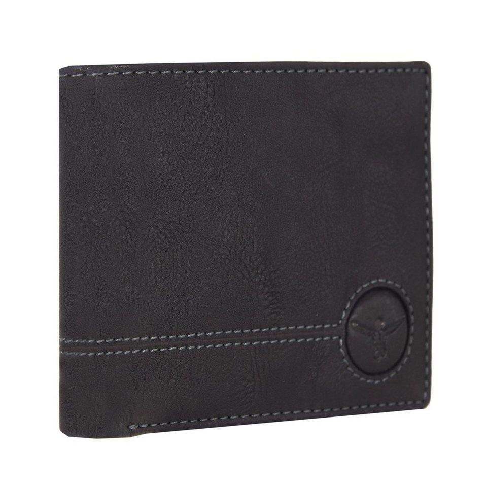 Chiemsee Wetland Geldbörse Leder 12,5 cm in schwarz