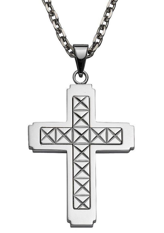 firetti Anhänger ohne Kette, »Kreuz« in silberfarben