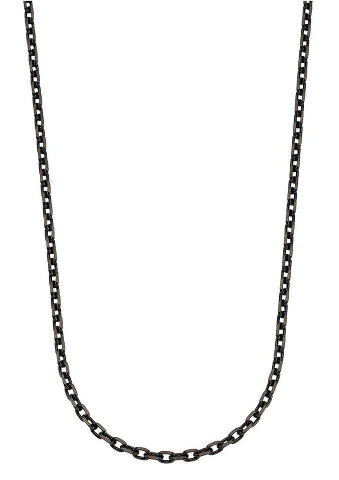 firetti Halskette, »Collierkettchen in Ankerkettengliederung« in schwarz
