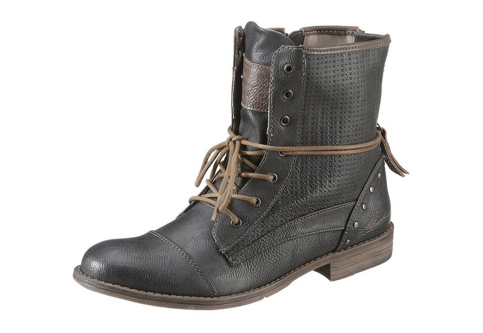 Stiefelette, Mustang in anthrazit