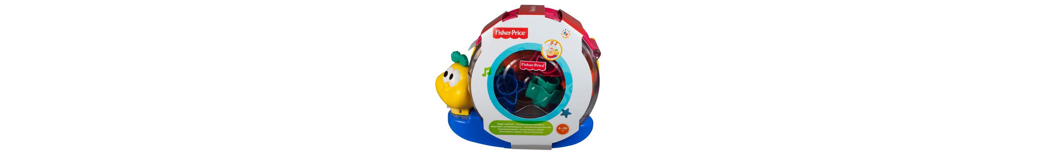 Fisher Price Musik- und Stapelspielzeug, »Babys Spiel- und Musikschnecke«