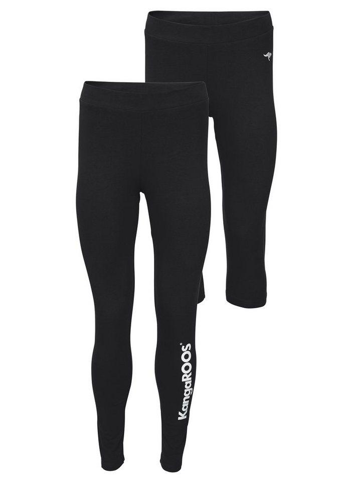 KangaROOS Leggings in schwarz