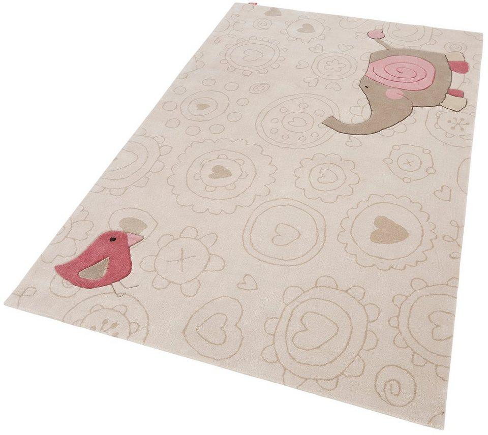 Kinder-Teppich, Sigikid, »Happy Zoo Elephant«, handgetuftet in beige
