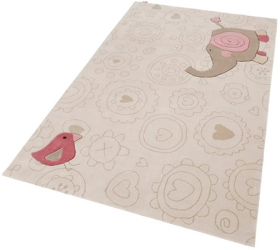 Kinderteppich »Happy Zoo Elephant«, Sigikid, rechteckig, Höhe 10 mm