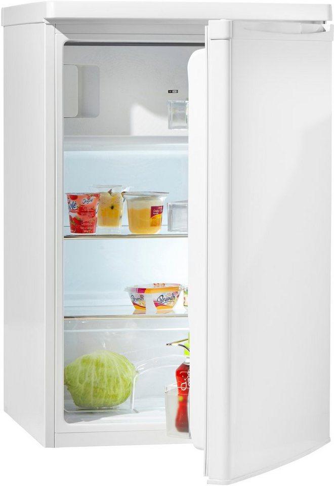 Hanseatic Kühlschrank HKS 8555GA3, A+++, 85 cm hoch in weiß