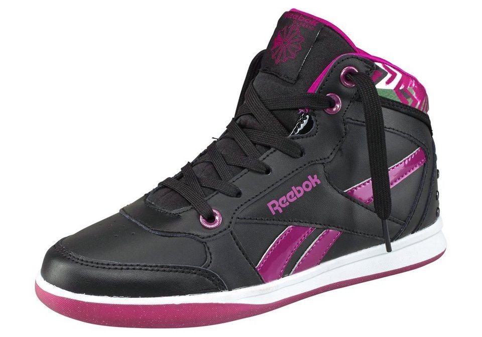 Reebok New Crew Sneaker in Schwarz-Lila