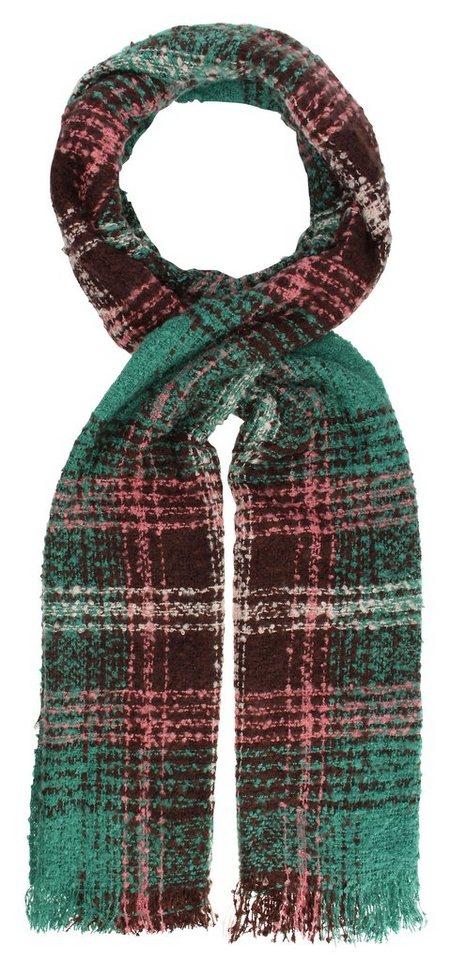 Highlight Company Schal in grün/braun/rose