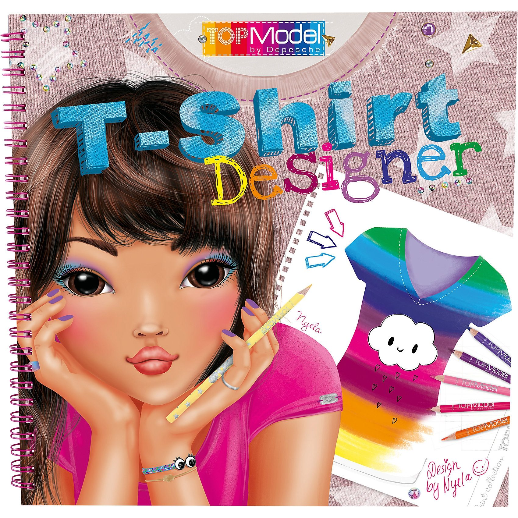 Depesche Malbuch T-Shirt Designer Top Model