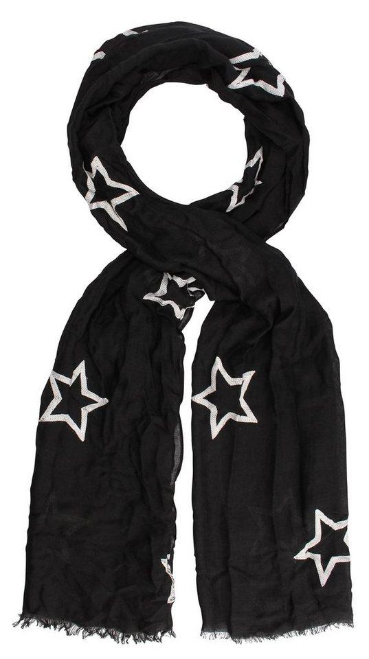 Highlight Company Schal in schwarz/weiss