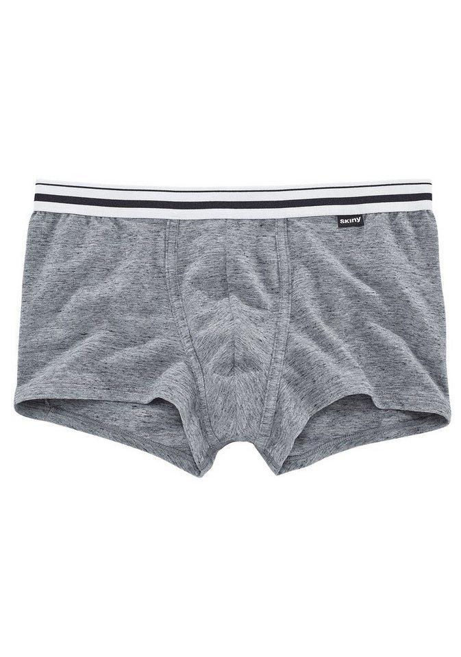 "Skiny Retro Pant ""Celebration Men"", mit gestreiftem Bündchen in grau meliert"