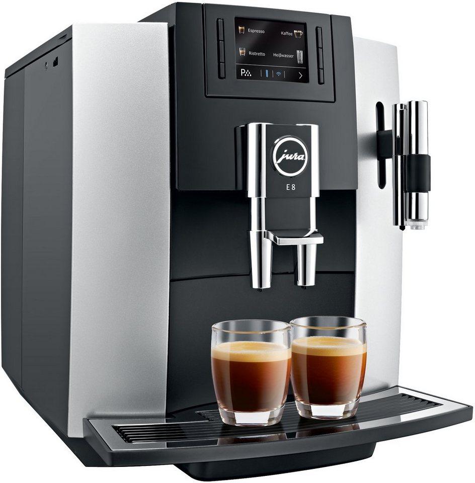 Jura Espresso-/Kaffee-Vollautomat 15084 E8, platin in Platin