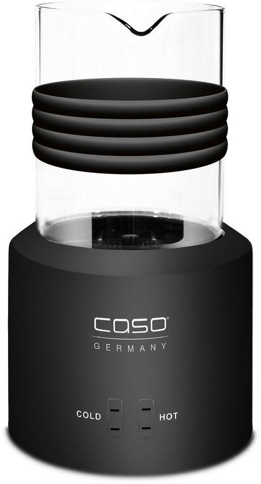 caso Germany Elektrischer Design Milchaufschäumer, Glas black in Schwarz