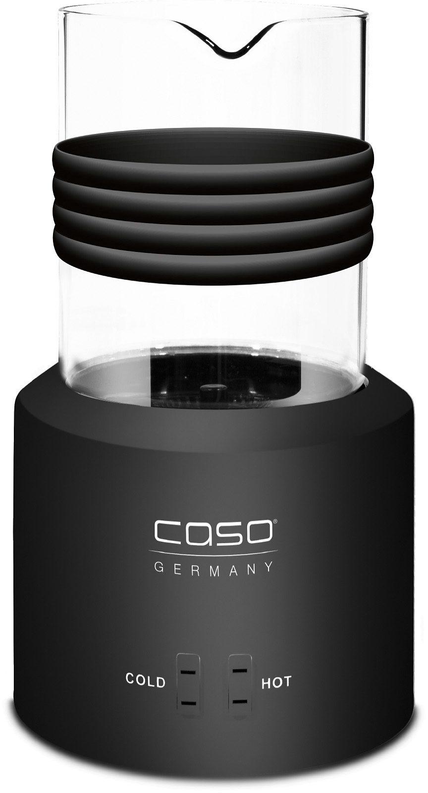 caso Germany Elektrischer Design Milchaufschäumer, Glas black