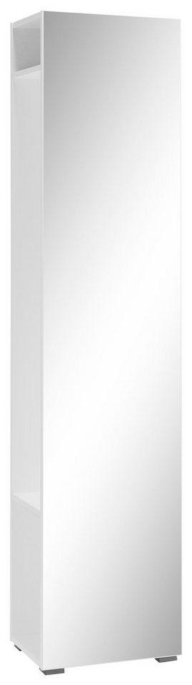 CS Schmal Garderobe »Rio«, mit Spiegel in weiß matt