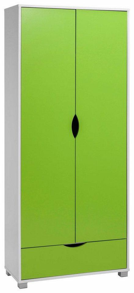 Garderobenschrank »Neva« in weiß-grün
