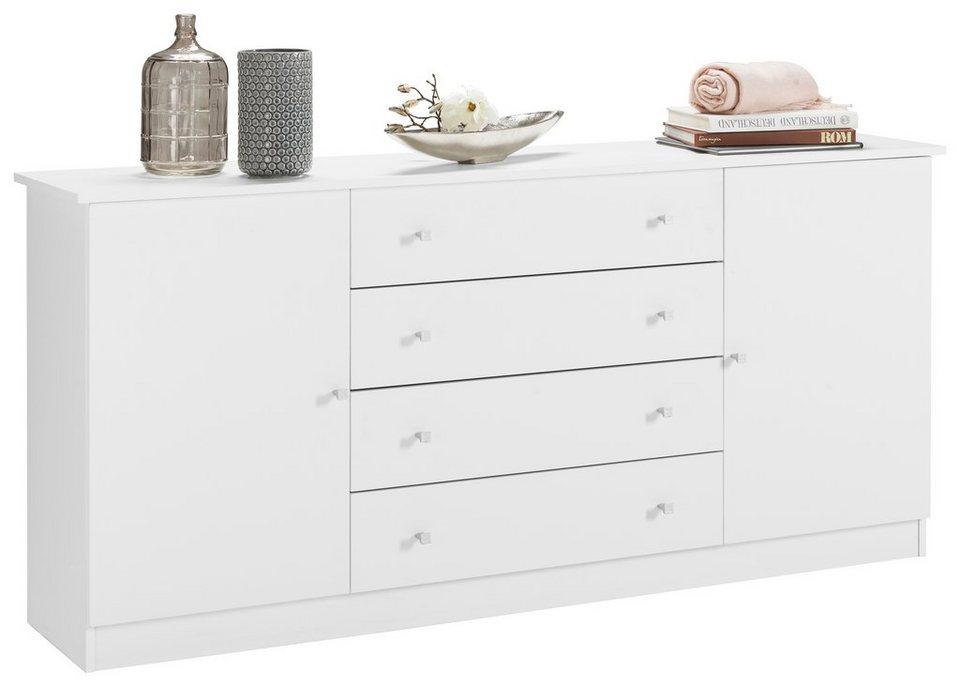 Kommode »Kompakta«, Breite 171 cm in weiß-weiß matt