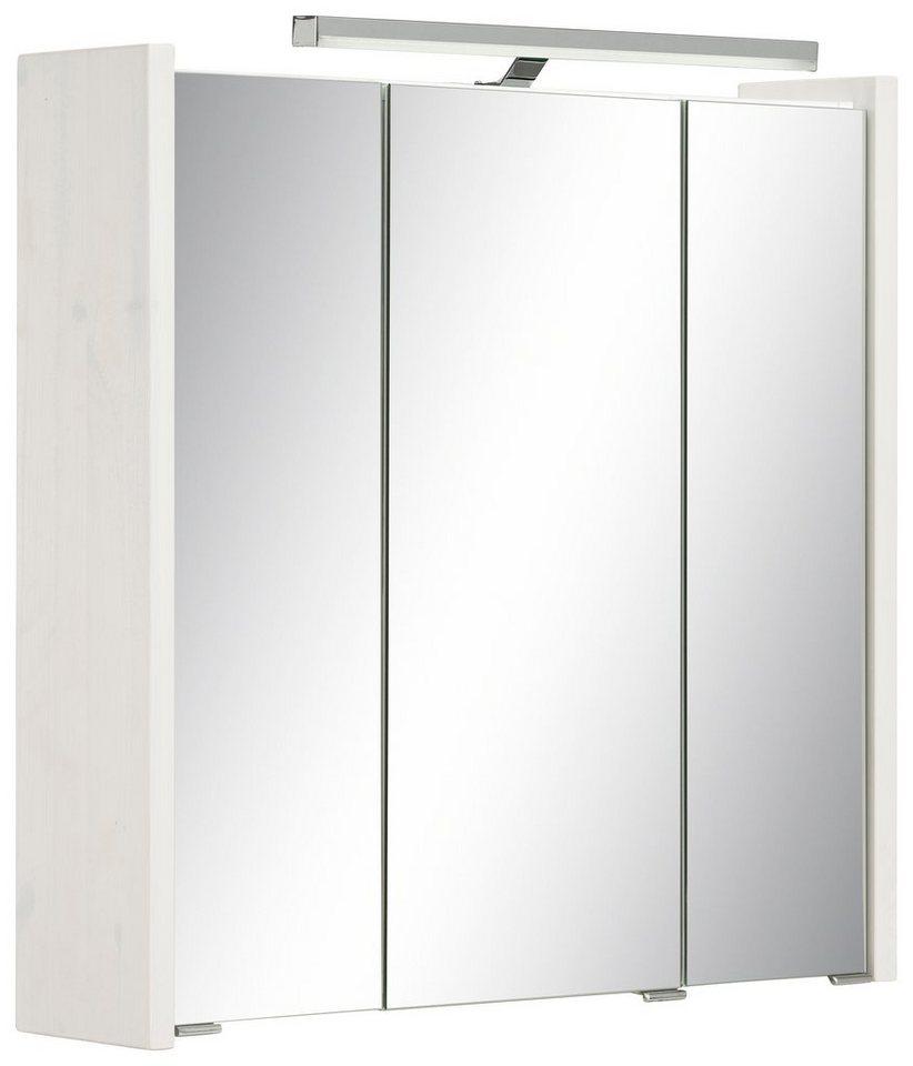 Schildmeyer Spiegelschrank »Paulina« mit LED-Beleuchtung in weiß