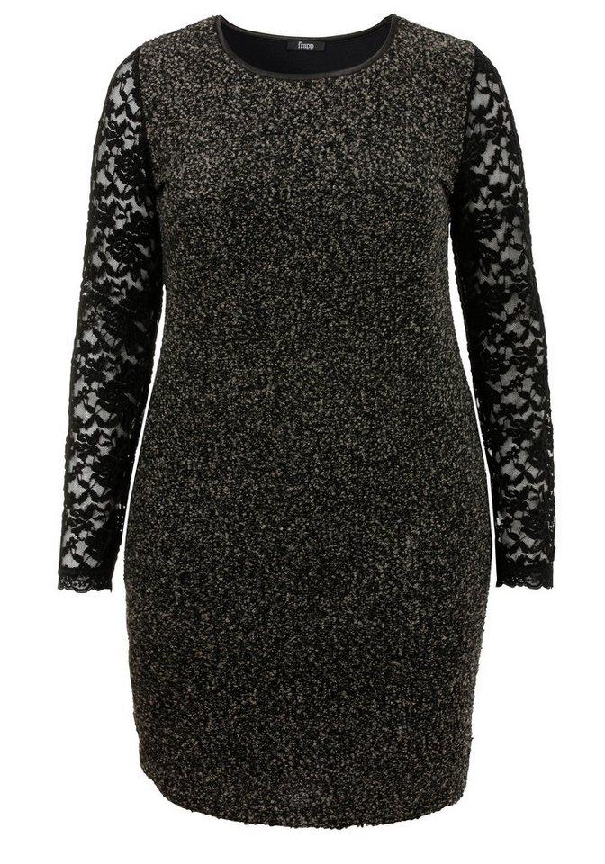FRAPP Bouclé-Kleid »High Contrast« in BLACK / FOG