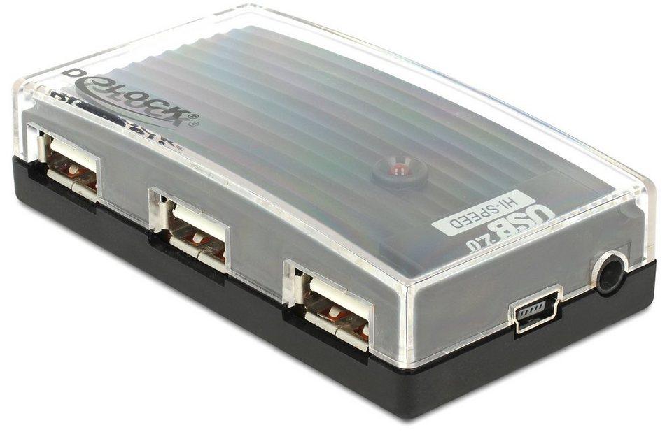 DELOCK Externe USB Port »HUB 2.0 4 Port (61393)« in schwarz